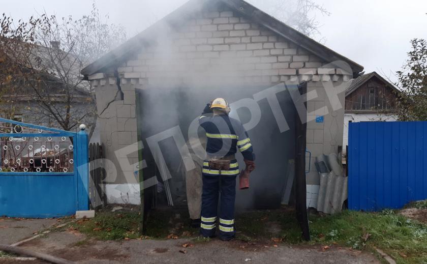 На Днепропетровщине из-за горящего гаража мог загорется дом