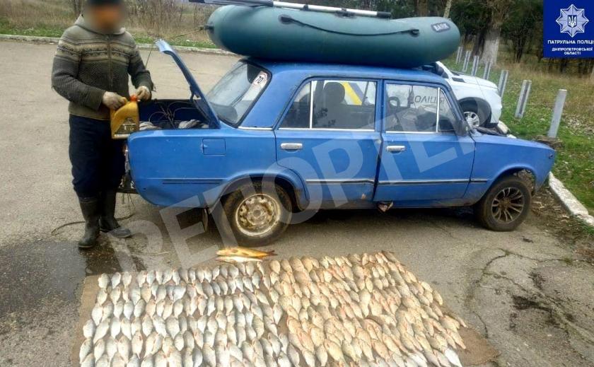 Под Каменским браконьер во время нереста нарыбачил на 16,2 тыс. грн