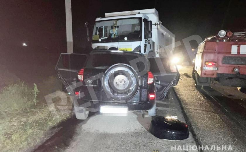 Смертельное ДТП под Царичанкой: Toyota RAV4 въехала в грузовик