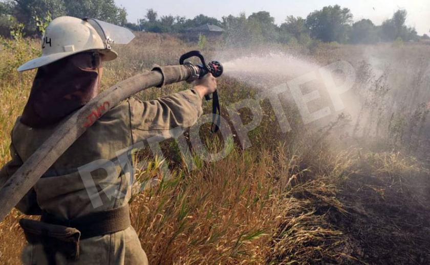 Возле Каменского горят болота